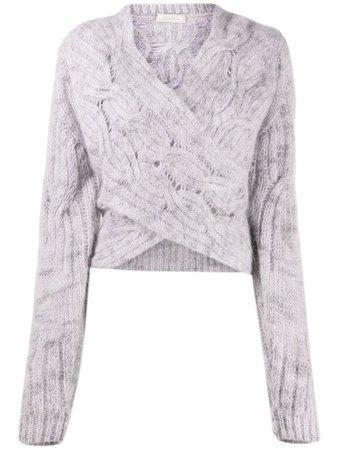 Nina Ricci Cable Knit Wrap Jumper - Farfetch