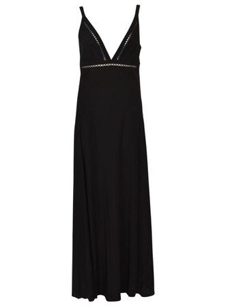 V-Neck Long Length Dress