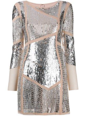 Patrizia Pepe Sequin Embellished Mini Dress