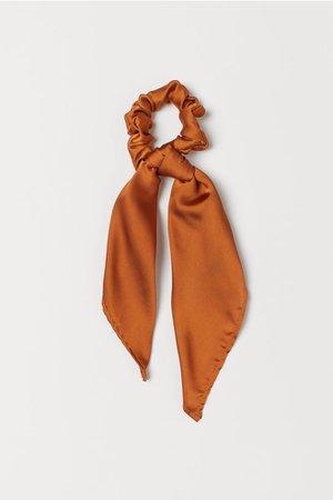Scrunchie with Scarf Detail - Dark orange - Ladies | H&M US