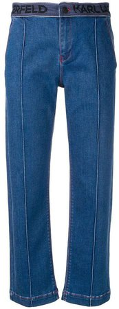 tailored pintuck jeans