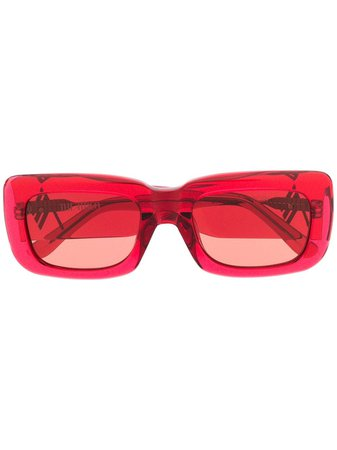Linda Farrow Marfa Rectangular Sunglasses - Farfetch