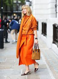 completely orange monochrome outfit - Google Search