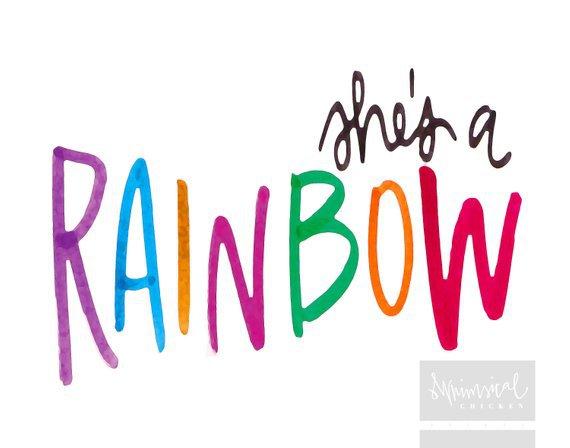 Rolling Stones Lyrics - 'She's a Rainbow' - Hand-lettered Printable Wall Art - Home Decor - Nursery | Rolling stones quotes, Hand lettering, She's a rainbow