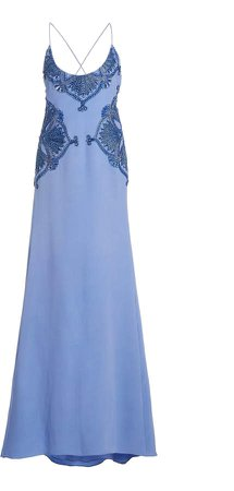 Cucculelli Shaheen Blue Iris Woven Rings Dress