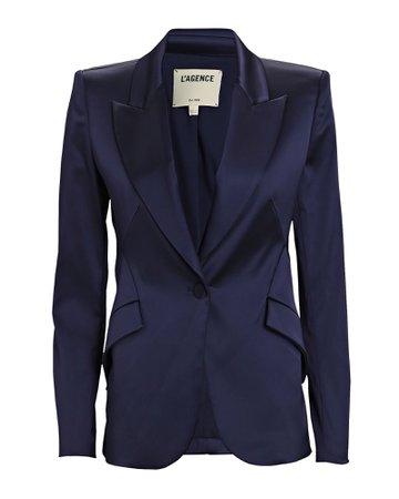 L'Agence Chamberlain Satin Suiting Blazer | INTERMIX®