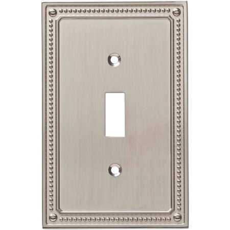 Franklin Brass Classic Beaded Single Switch Wall Plate in Satin Nickel - Walmart.com