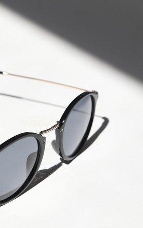Black Round Retro Sunglasses | Accessories | PrettyLittleThing
