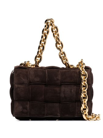 Bottega Veneta The Chain Cassette Suede Shoulder Bag - Farfetch