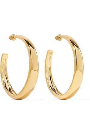 Kenneth Jay Lane | Gold-tone hoop earrings | NET-A-PORTER.COM