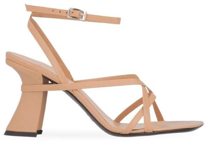 Kersti Square-Toe Leather Sandals