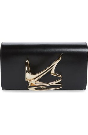 PERRIN Zaha Hadid Leather Clutch | Nordstrom