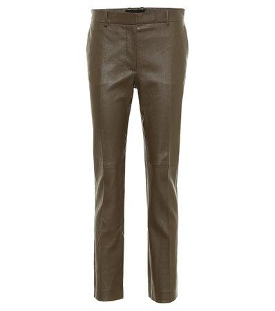 Joseph - Coleman leather cigarette pants | Mytheresa