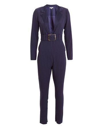 WeWoreWhat | Pinstripe Blazer Jumpsuit | INTERMIX®