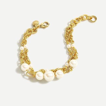 J.Crew: Layered Pearl Bracelet For Women