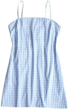 ZAFUL Women's Mini Dress Adjustable Spaghetti Straps Sleeveless Knotted Plaid Back Checkered Dress