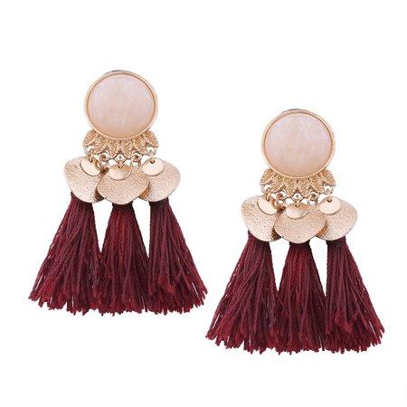 Wine red earrings