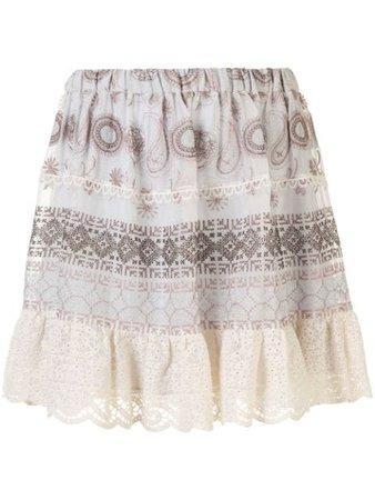 Alexis Linen High Waisted Mini Skirt - Farfetch