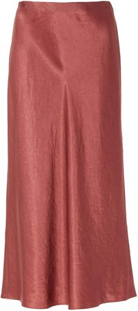 Satin-Effect Slip Skirt