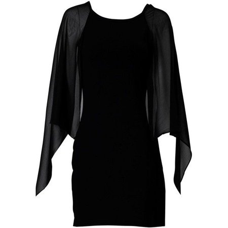 Short Black Cape Dress