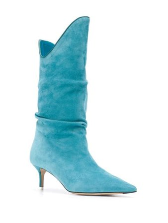 The Attico Tate slouched boots blue 202WS240L007 - Farfetch