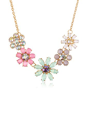 Flower Shaped Statement Necklace