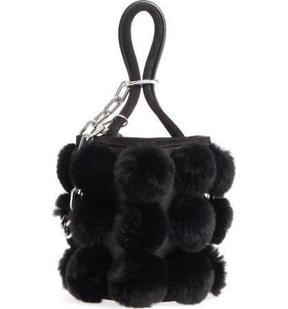Alexander Wang Mini Roxy Genuine Rabbit Fur Pompom Leather | Nordstrom