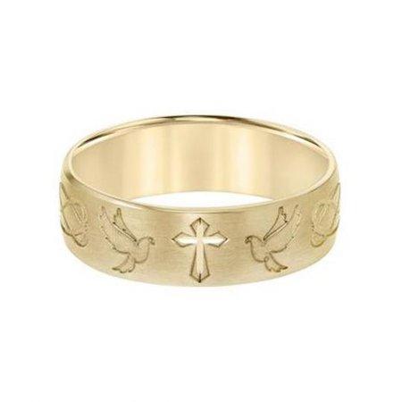 Cross Gold Ring