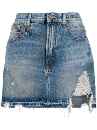 Blue R13 Denim Mini Skirt   Farfetch.com