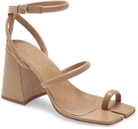 Embossed Toe Ring Sandal