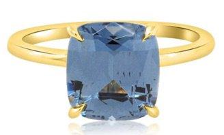 Blue Diamond Gold Band Ring