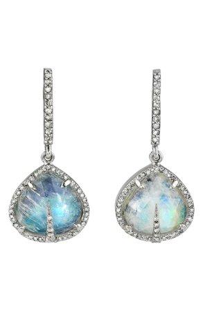 Sheryl Lowe Moonstone Teardrop Earrings | Nordstrom