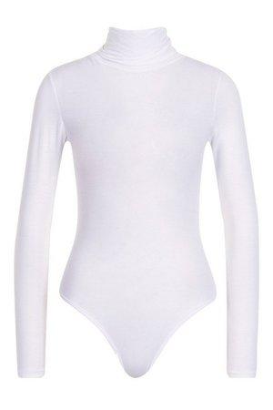 Roll Neck Jersey Bodysuit   Boohoo