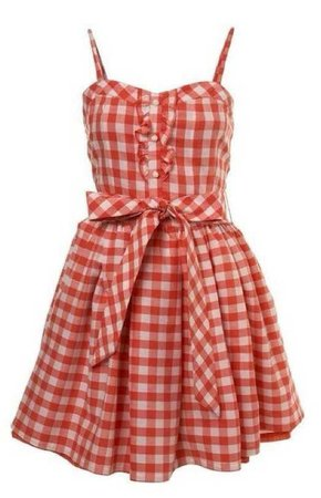 red picnic dress