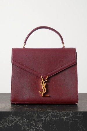 Cassandra Medium Textured-leather Tote - Burgundy
