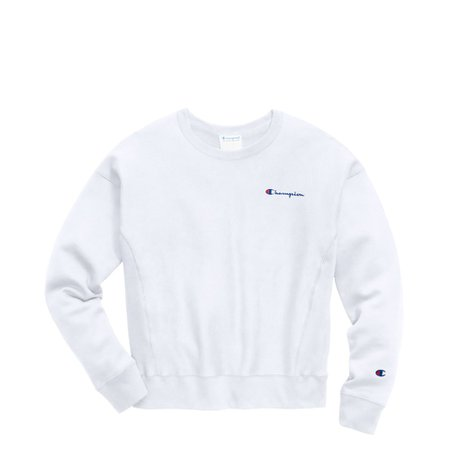 Womens Champion Reverse Weave Crew Sweatshirt - White | Journeys