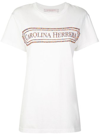 Carolina Herrera, Embroidered Vintage Logo T-Shirt