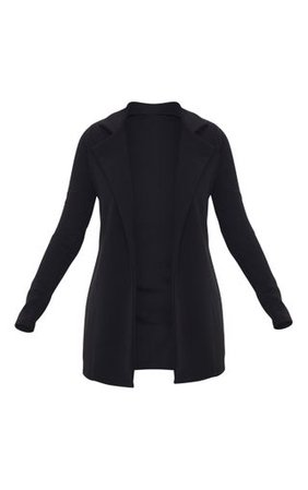 Black Longline Blazer | Coats & Jackets | PrettyLittleThing