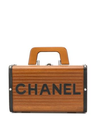 Chanel Pre-Owned wood structured logo tote $21,092 - Buy VINTAGE Online - Fast Global Delivery, Price