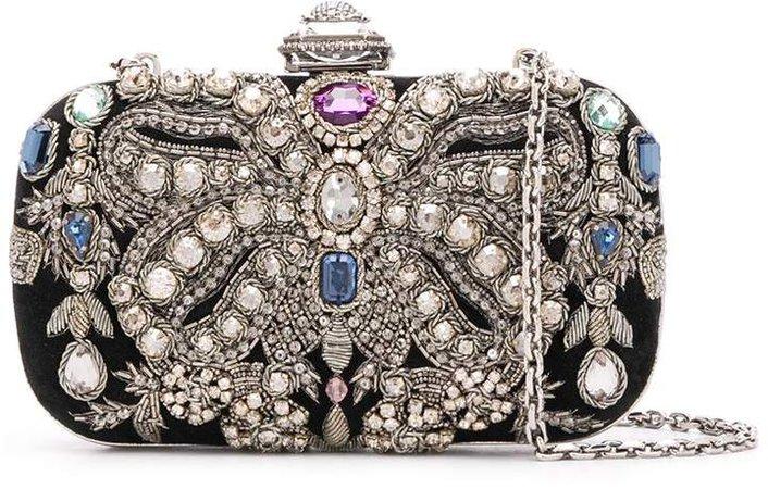 Crystal-Embellished Clutch