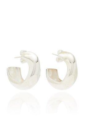 Celia Medium Sterling Silver Hoop Earrings By Agmes | Moda Operandi