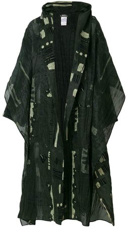 Pre-Owned oversized printed coat