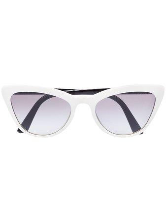Prada Eyewear Cat Eye Tinted Sunglasses - Farfetch