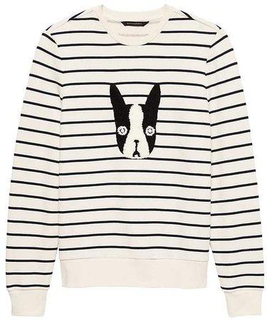 French Terry Frenchi Stripe Sweatshirt