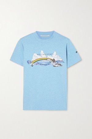 Greenpeace Printed Organic Cotton-jersey T-shirt - Blue