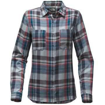 The North Face Castleton Women's Shirt (Dusty Blue Sierra Plaid/XS)   Freeze Pro Shop