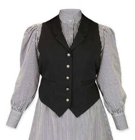 Ladies Classic Canvas Vest - Black