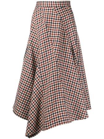 JW Anderson Checked Asymmetric Skirt - Farfetch