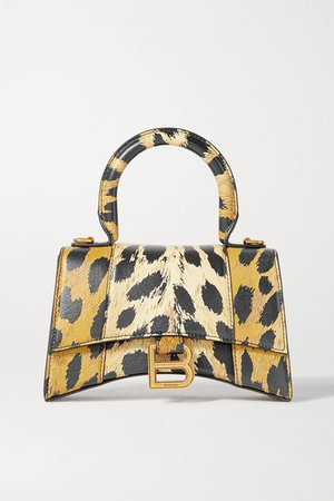 Balenciaga | Hourglass mini leopard-print leather tote | NET-A-PORTER.COM