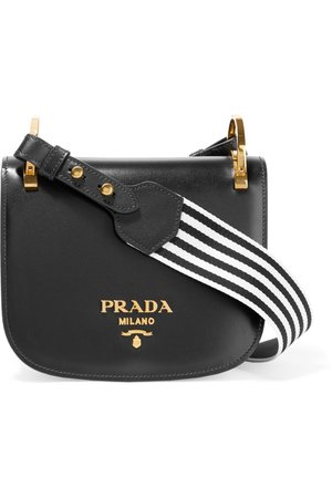 Prada   Pionnière canvas-trimmed leather shoulder bag   NET-A-PORTER.COM